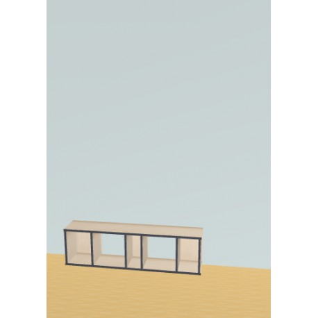 Bookshelf (H38cm - W135 cm)