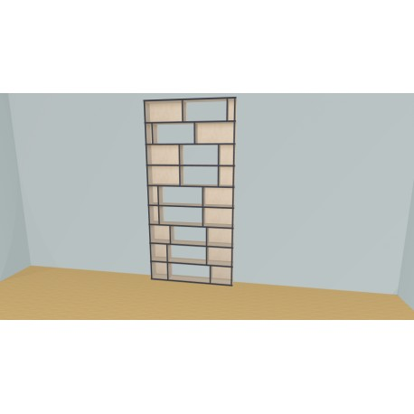 Bookshelf (H243cm - W130 cm)
