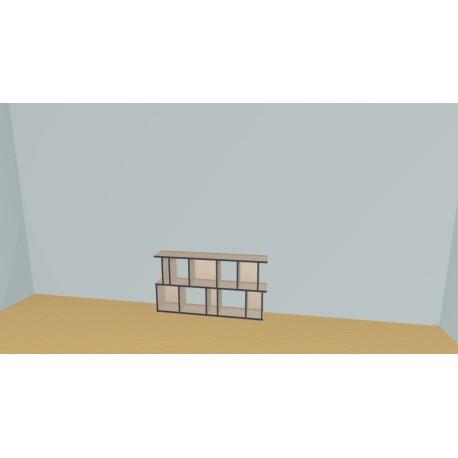 Bookshelf (H73cm - W154 cm)