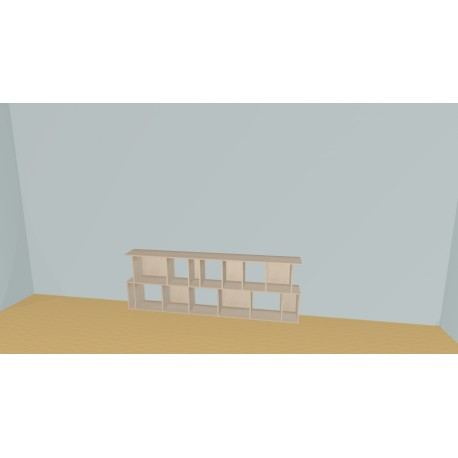 Bibliotheek (H73cm - B240 cm)