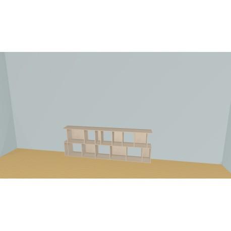 Bookshelf (H73cm - W240 cm)