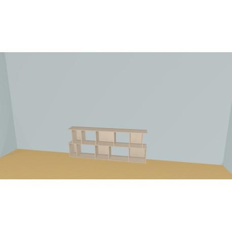 Bibliothèque (H73cm - L213 cm)