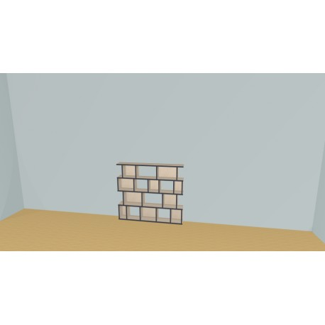 Meuble Bibliothèque sur-mesure (H103cm - L129 cm)