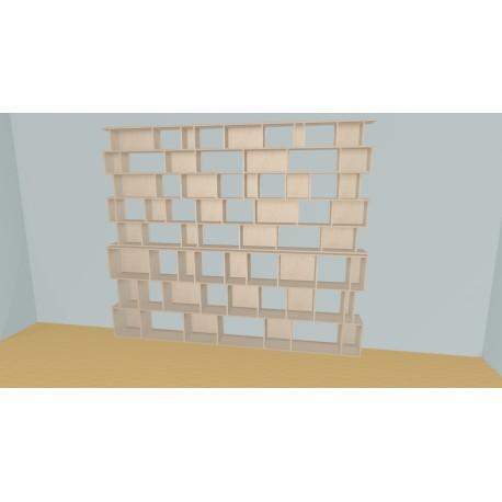 Bibliothèque (H239cm - L316 cm)