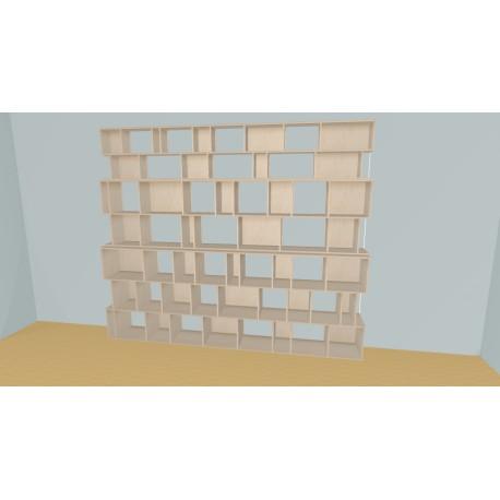 Bibliothèque (H238cm - L320 cm)