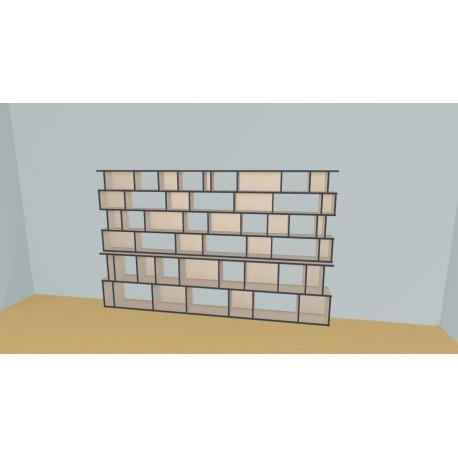 Bibliotheek (H176cm - B317 cm)