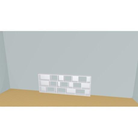 Bookshelf (H82cm - W243 cm)