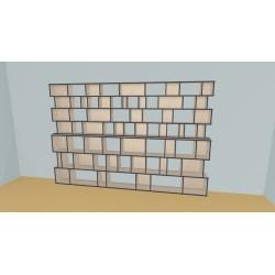 Bibliotheek (H212cm - B354 cm)