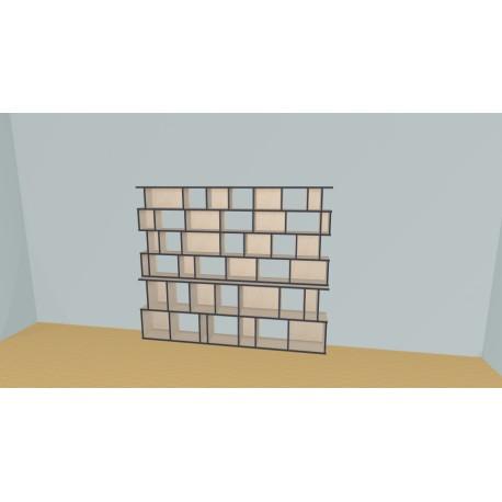 Boekenkast op maat (H176cm - B236 cm)