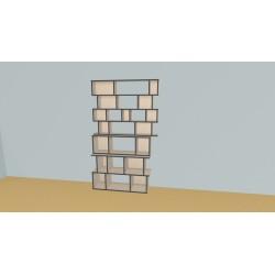 Boekenkast op maat (H217cm - B130 cm)