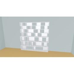 Boekenkast op maat (H212cm - B236 cm)