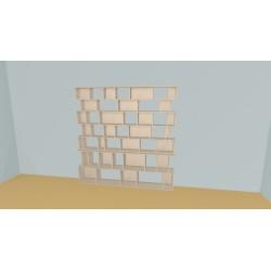 Custom bookcase (H203cm - W224 cm)