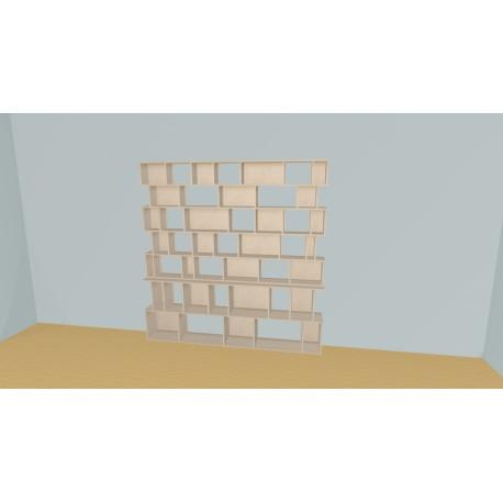 Boekenkast op maat (H203cm - B224 cm)