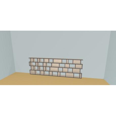 Boekenkast op maat (H103cm - B340 cm)
