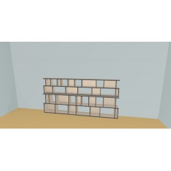Bookshelf (H129cm - W300 cm)