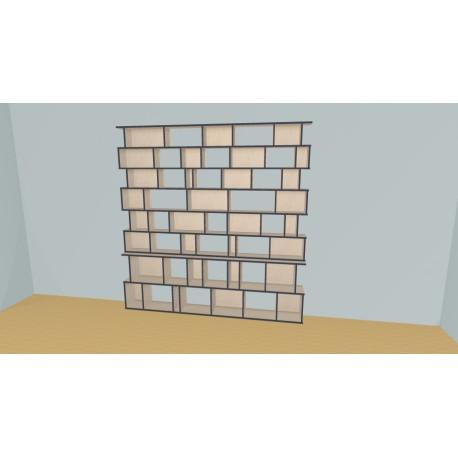 Bookshelf (H227cm - W250 cm)