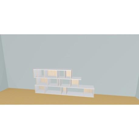 Meuble Bibliothèque sur-mesure (H109cm - L258 cm)