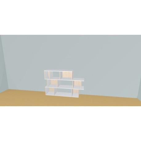 Custom bookcase (H109cm - W165 cm)