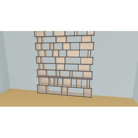 Custom bookcase (H281cm - W253 cm)