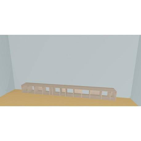 Meuble Bibliothèque sur-mesure (H38cm - L450 cm)