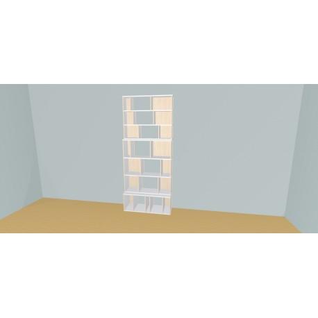 Boekenkast op maat (H229cm - B108 cm)
