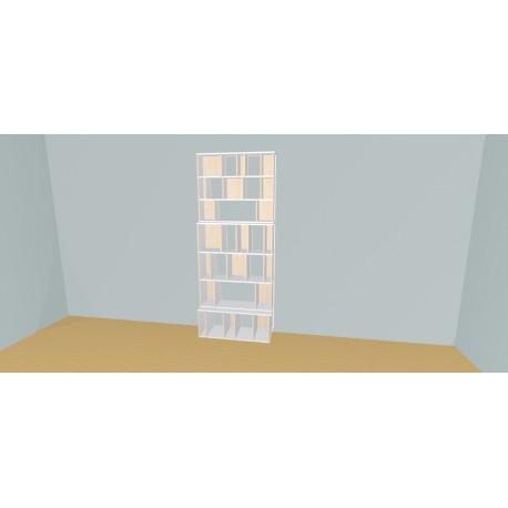 Boekenkast op maat (H229cm - B105 cm)