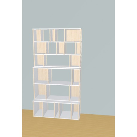 Boekenkast op maat (H193cm - B104 cm)