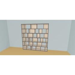 Boekenkast op maat (H217cm - B240 cm)