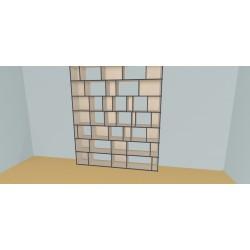 Custom bookcase (H252cm - W240 cm)