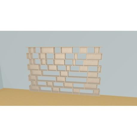 Custom bookcase (H192cm - W302 cm)