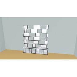 Boekenkast op maat (H200cm - B200 cm)