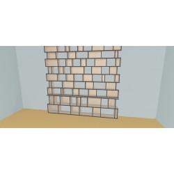 Custom bookcase (H257cm - W300 cm)