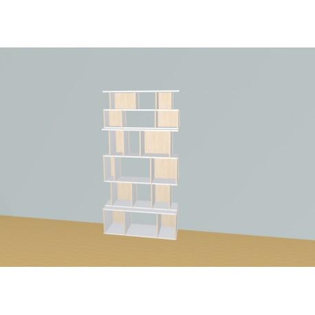 Boekenkast op maat (H196cm - B114 cm)