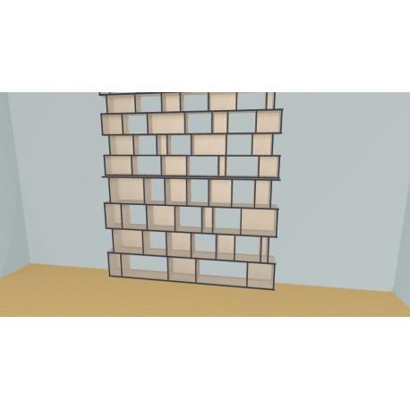 Boekenkast op maat (H299cm - B260 cm)