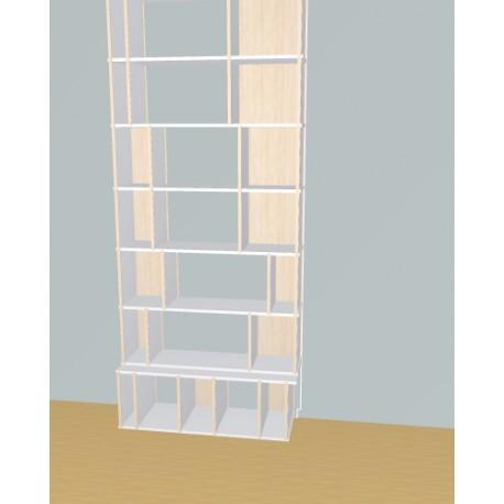 Meuble Bibliothèque sur-mesure (H254cm - L109 cm)