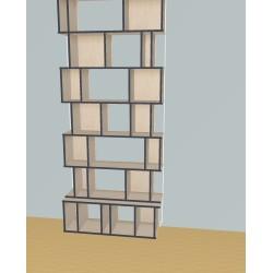 Custom bookcase (H254cm - W109 cm)