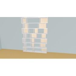 Boekenkast op maat (H324cm - B180 cm)