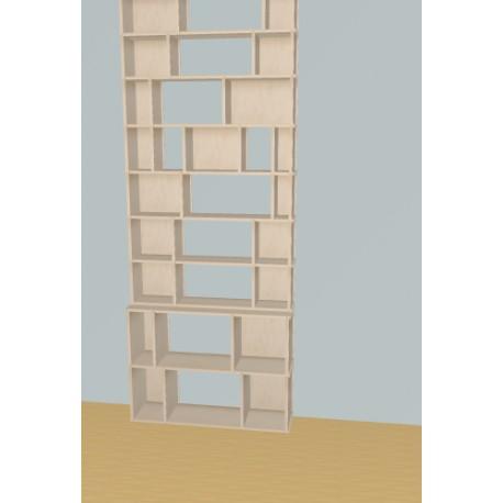 Meuble Bibliothèque sur-mesure (H257cm - L100 cm)