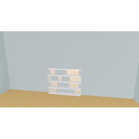 Boekenkast op maat (H109cm - B153 cm)