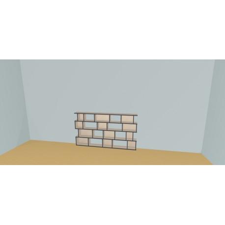 Custom bookcase (H103cm - W205 cm)