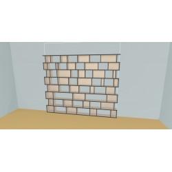Custom bookcase (H208cm - W289 cm)