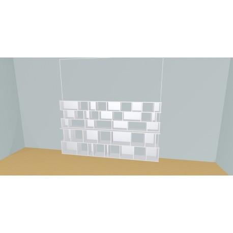 Custom bookcase (H147cm - W289 cm)