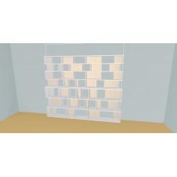 Boekenkast op maat (H212cm - B289 cm)