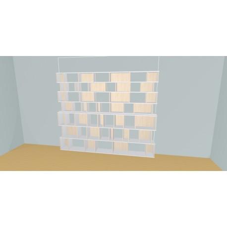 Custom bookcase (H212cm - W289 cm)