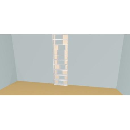 Custom bookcase (H252cm - W80 cm)