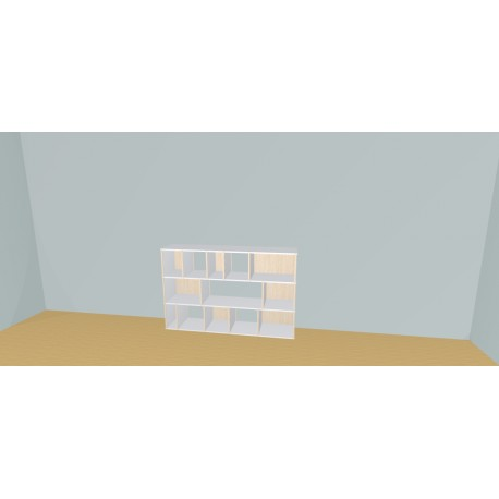 Boekenkast op maat (H109cm - B170 cm)