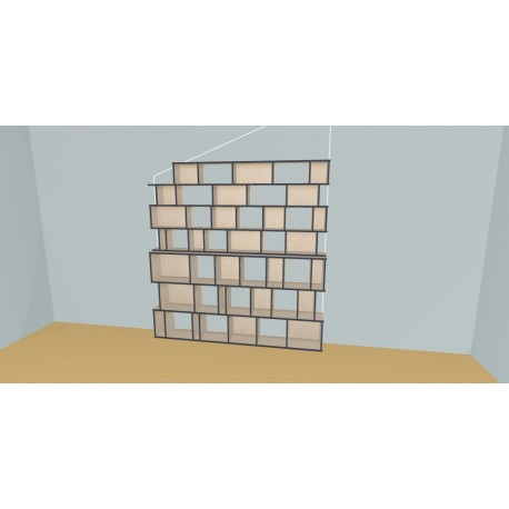 Boekenkast op maat (H212cm - B230 cm)