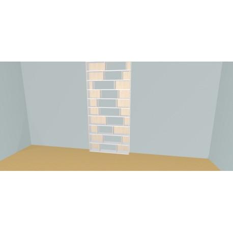 Custom bookcase (H252cm - W130 cm)