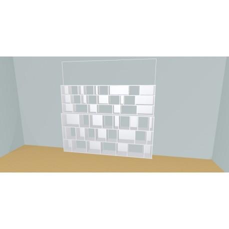 Custom bookcase (H182cm - W269 cm)