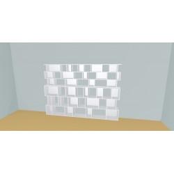 Custom bookcase (H182cm - W289 cm)